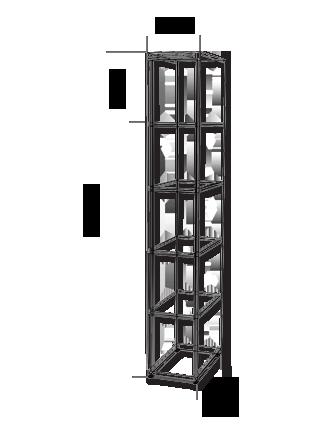 f cherschrank stahl mit plexiglast ren divikom. Black Bedroom Furniture Sets. Home Design Ideas