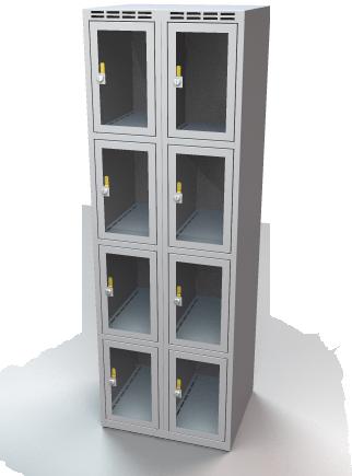 schlie fachschrank stahl mit plexiglast ren divikom. Black Bedroom Furniture Sets. Home Design Ideas